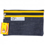 4 Kids Clear Pencil Bag 22cm With Yellow Zip