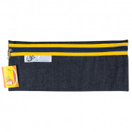 4 Kids Clear Pencil Bag 33cm With Yellow Zip
