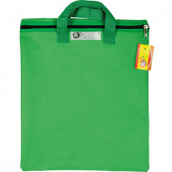 4 Kids Nylon Library Book Bag With Handle Green