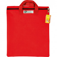 4 Kids Nylon Library Book Bag With Handle Red
