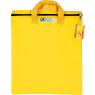 4 Kids Nylon Library Book Bag With Handle Yellow