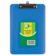 4 Office A4 Transparent Clipboard Blue