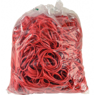 4 Office Rubber Bands 1kg Size 65 Red