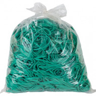 4 Office Rubber Bands 1kg Size 65 Green