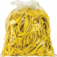 4 Office Rubber Bands 1kg Size 65 Yellow
