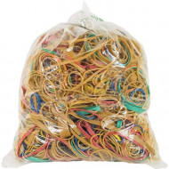 4 Office Rubber Bands 1kg Assorted