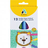 Adel Triangular Colour Pencils 12's